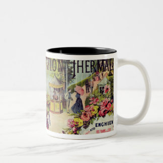 The spa resort of Enghien-les-Bains, France Two-Tone Mug