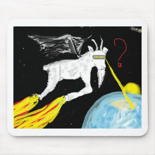 The Space Goat Mouse Mat