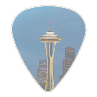 The Space Needle and downtown Seattle Acetal Guitar Pick