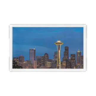 The Space Needle and downtown Seattle Acrylic Tray
