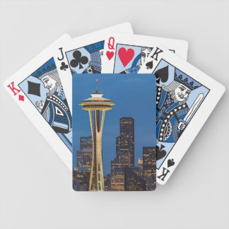 The Space Needle and downtown Seattle Bicycle Playing Cards
