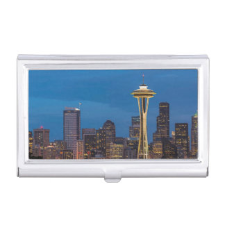 The Space Needle and downtown Seattle Business Card Holder