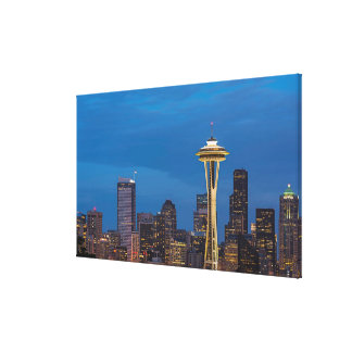 The Space Needle and downtown Seattle Canvas Print
