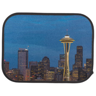 The Space Needle and downtown Seattle Car Mat