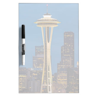 The Space Needle and downtown Seattle Dry Erase Board