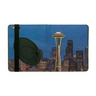 The Space Needle and downtown Seattle iPad Folio Case
