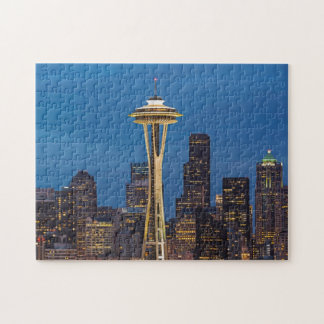 The Space Needle and downtown Seattle Jigsaw Puzzle