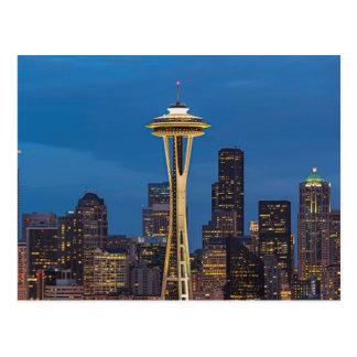 The Space Needle and downtown Seattle Postcard