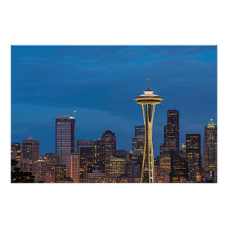 The Space Needle and downtown Seattle Poster