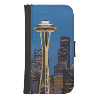 The Space Needle and downtown Seattle Samsung S4 Wallet Case