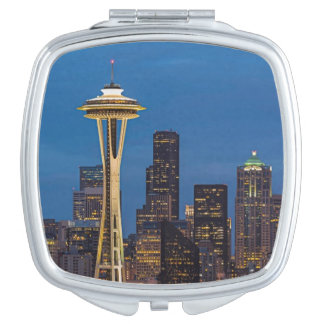 The Space Needle and downtown Seattle Vanity Mirror