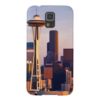 The Space Needle is a tower at dusk in Seattle Galaxy S5 Cover