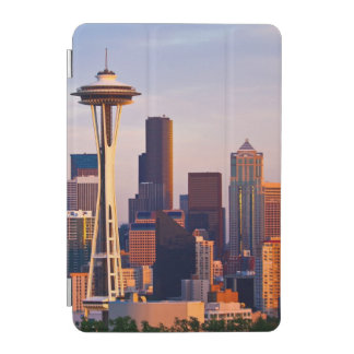 The Space Needle is a tower at dusk in Seattle iPad Mini Cover