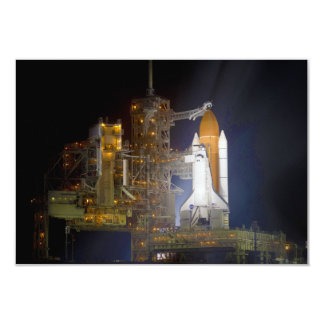 The Space Shuttle Discovery at Launch Pad 39A 9 Cm X 13 Cm Invitation Card