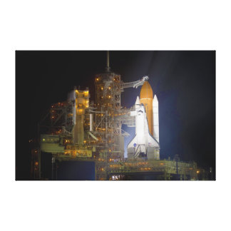 The Space Shuttle Discovery at Launch Pad 39A Stretched Canvas Print