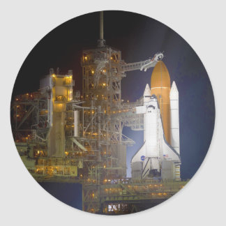 The Space Shuttle Discovery at Launch Pad 39A Classic Round Sticker
