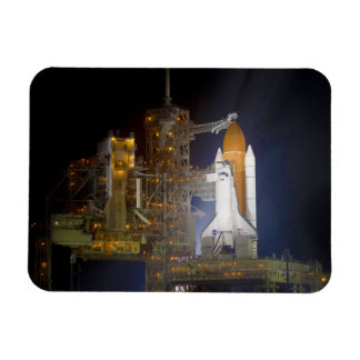 The Space Shuttle Discovery at Launch Pad 39A Rectangular Photo Magnet