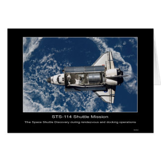 The Space Shuttle Discovery rendezvous and docking Card