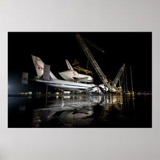 The Space Shuttle Piggybacks Poster