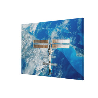 The Space Station Stretched Canvas Prints
