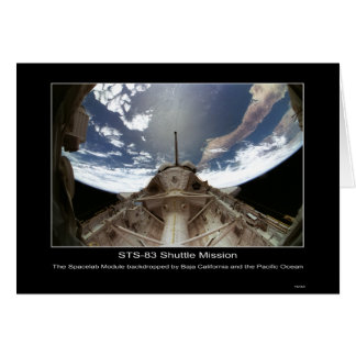 The Spacelab Module backdropped by Baja California Greeting Card
