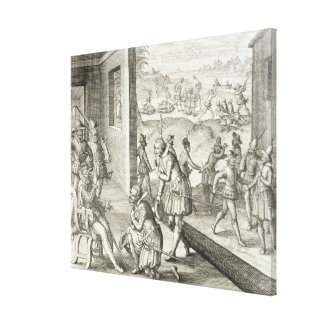 The Spanish Capture Fort Caroline, 1565, from 'New Canvas Print