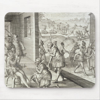 The Spanish Capture Fort Caroline, 1565, from 'New Mouse Mat
