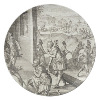 The Spanish Capture Fort Caroline, 1565, from 'New Plate