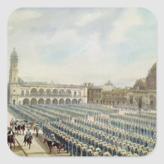 The Spanish Expeditionary Corps in Vera Cruz Square Sticker