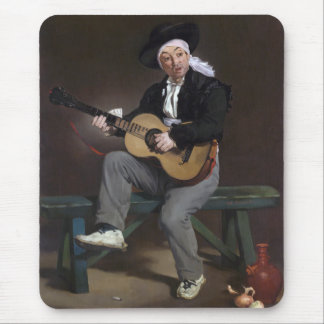 The Spanish Singer - Édouard Manet Mouse Pad