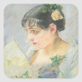 The Spanish Woman (pastel on paper) Square Sticker