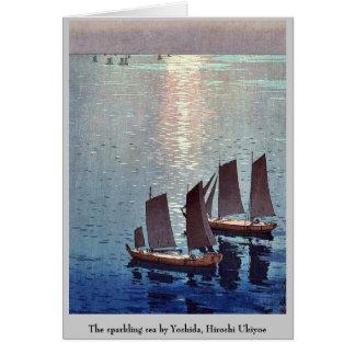 The sparkling sea by Yoshida, Hiroshi Ukiyoe Note Card