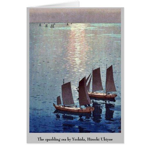 The sparkling sea by Yoshida, Hiroshi Ukiyoe Card