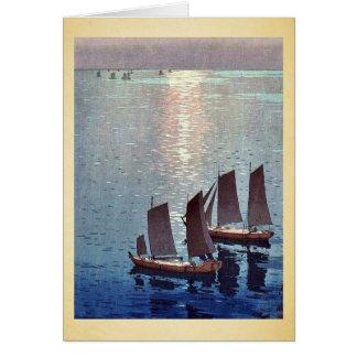 The sparkling sea by Yoshida, Hiroshi Ukiyoe Greeting Card