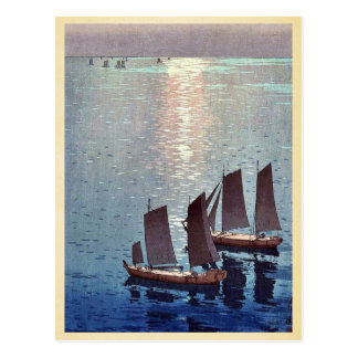 The sparkling sea by Yoshida, Hiroshi Ukiyoe Postcard