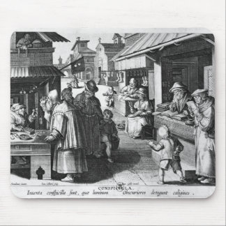 The Spectacles Seller, engraved by Jan Collaert Mouse Mat