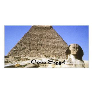 The Sphinx and Pyramid Customised Photo Card