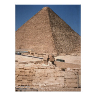 The Sphinx and the Great Pyramid at Giza Posters