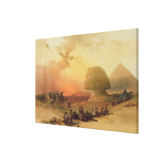 The Sphinx at Giza Canvas Print