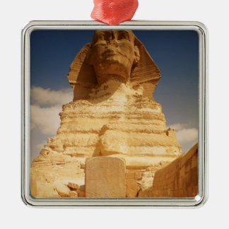 The Sphinx, dating from the reign of King Silver-Colored Square Decoration
