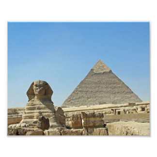 The Sphinx with Pyramids Photo