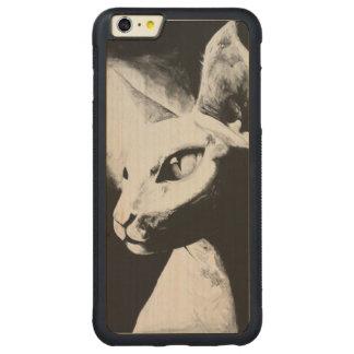 The Sphynx Cat Feline Art iPhone 6+ Wood Case
