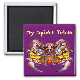 The Spider Totem Square Magnet
