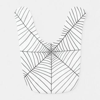 THE SPIDER'S WEB (a black & white design) ~ Baby Bibs