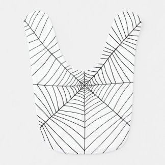 THE SPIDER'S WEB (a black & white design) ~ Bib