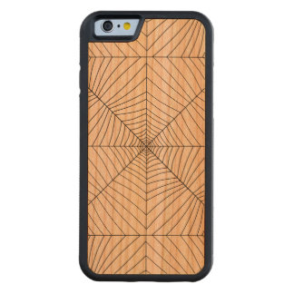 THE SPIDER'S WEB (a black & white design) ~ Carved® Cherry iPhone 6 Bumper Case