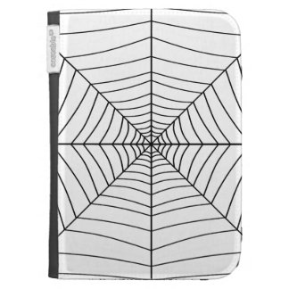 THE SPIDER'S WEB (a black & white design) ~ Case For Kindle