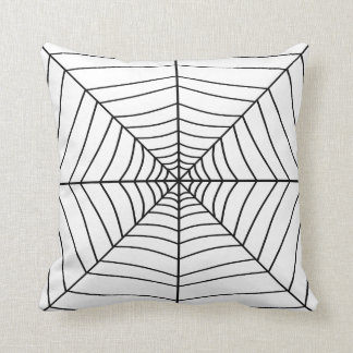 THE SPIDER'S WEB (a black & white design) ~ Throw Pillow