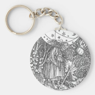 The Spinner by Hans Holbein the Younger Basic Round Button Key Ring