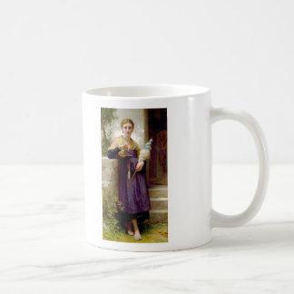The Spinner, William-Adolphe Bouguereau Basic White Mug